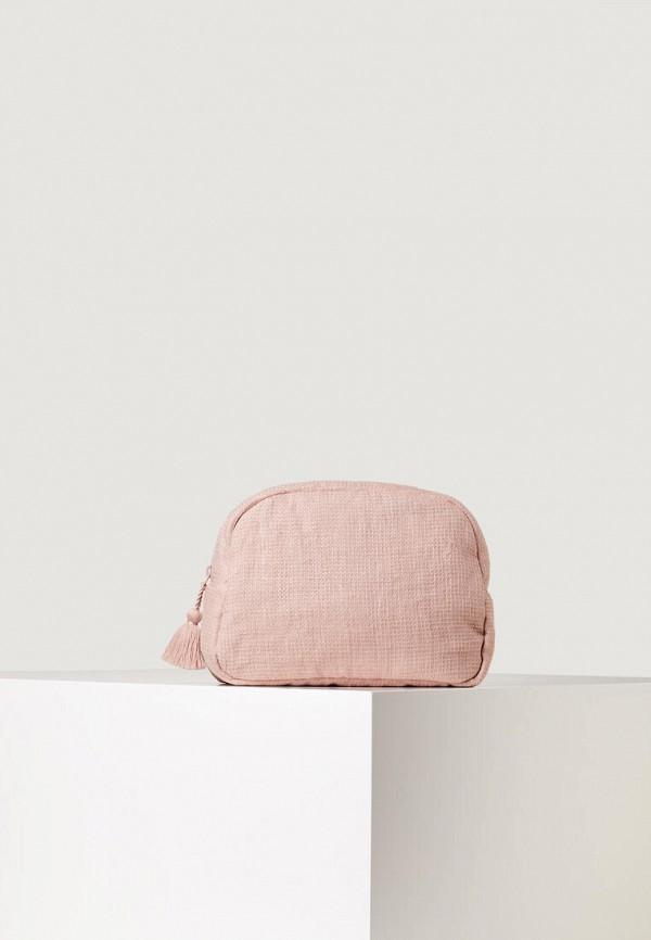 женская косметичка oysho, розовая