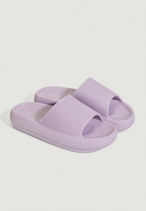 женские сланцы oysho, фиолетовые
