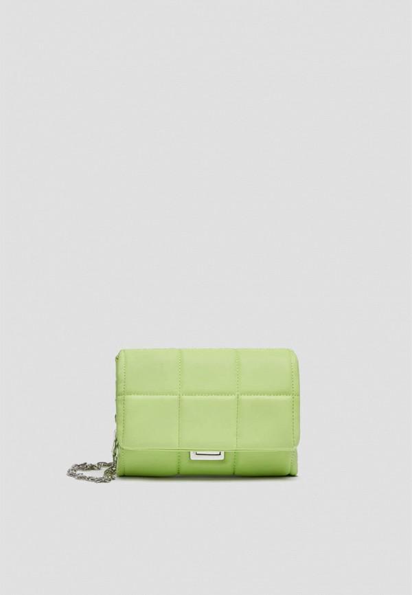 женская сумка через плечо pull & bear, зеленая