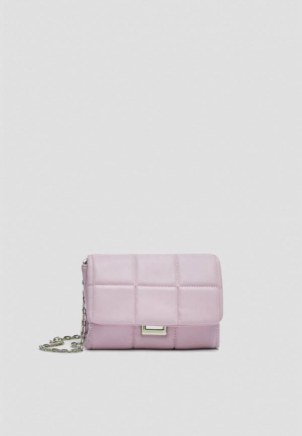 женская сумка через плечо pull & bear, фиолетовая
