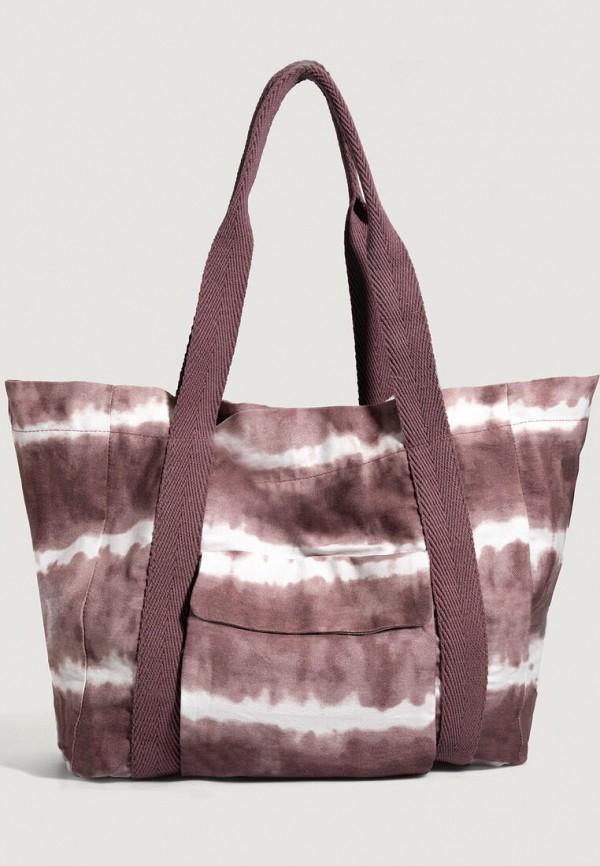 женская пляжные сумка oysho, коричневая