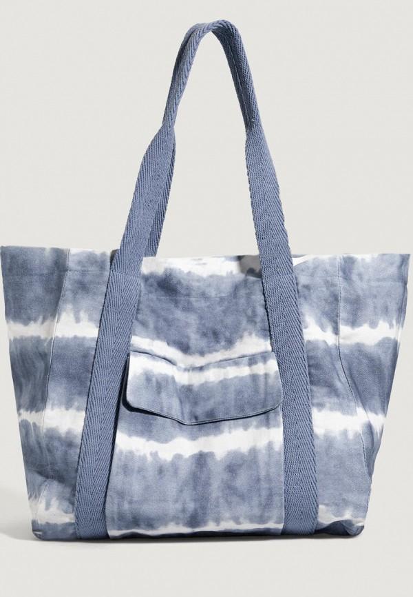 женская пляжные сумка oysho, голубая