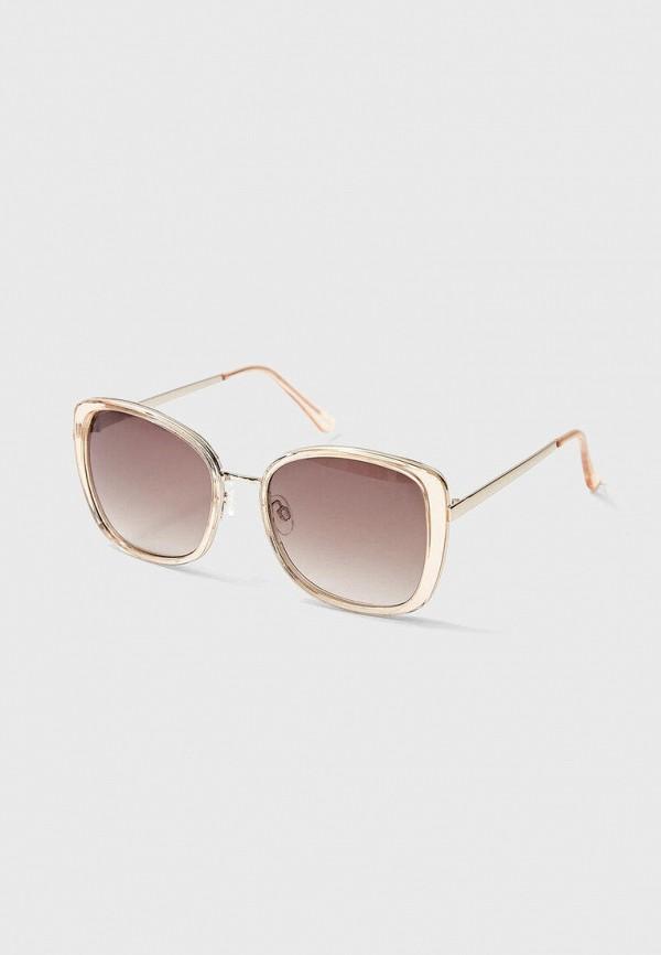 женские квадратные солнцезащитные очки stradivarius, золотые