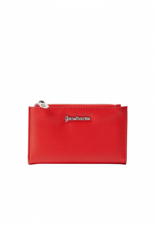 женский кошелёк stradivarius, красный