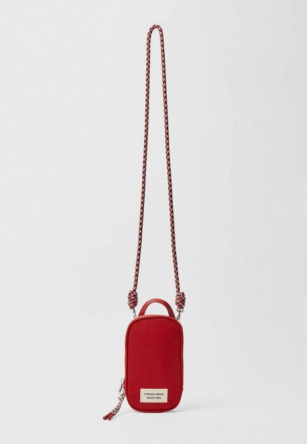 женская сумка через плечо stradivarius, красная