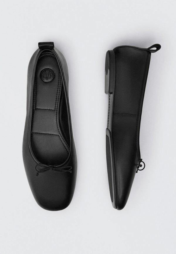 Балетки Massimo Dutti черного цвета
