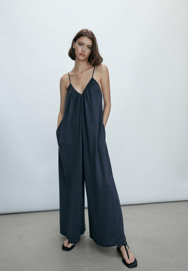 женский комбинезон с брюками massimo dutti, серый