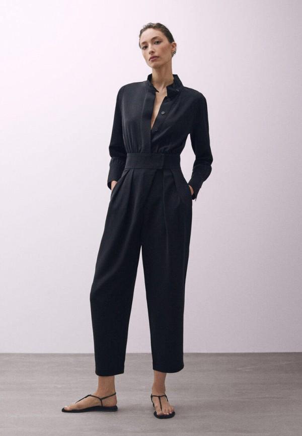 женский комбинезон с брюками massimo dutti, черный