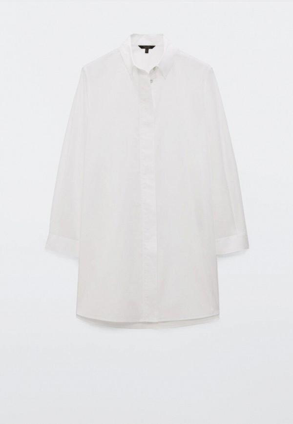 женская блузка с длинным рукавом massimo dutti, белая
