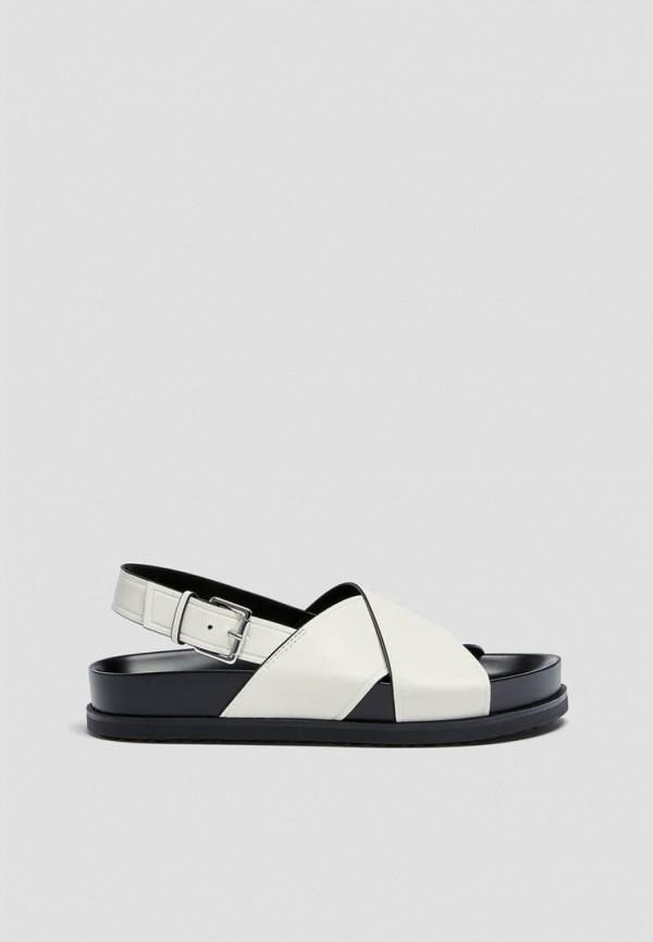 женские сандалии pull & bear, белые