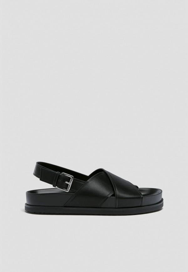 женские сандалии pull & bear, черные