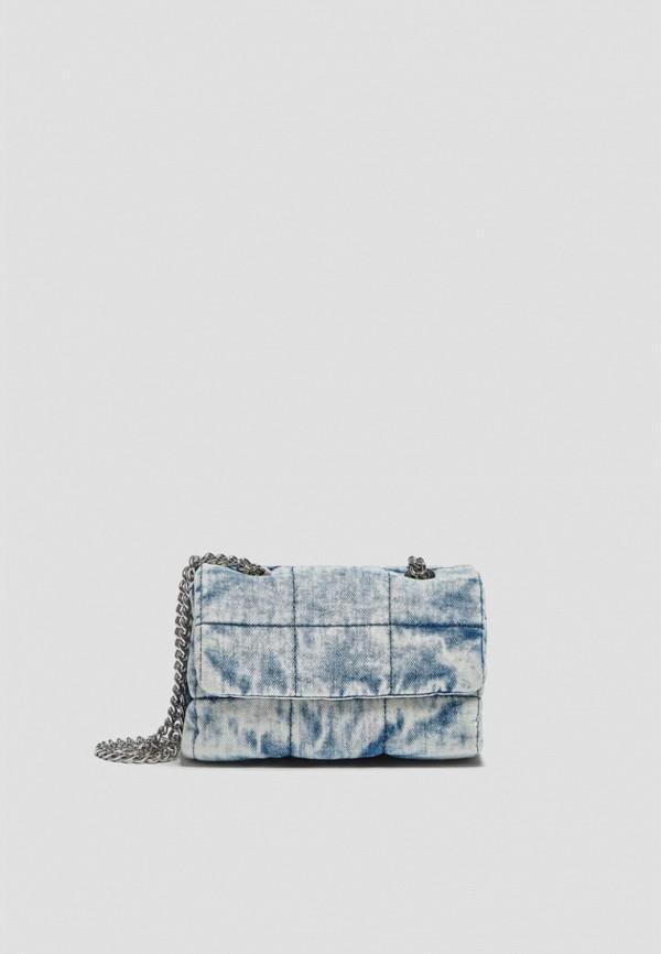 женская сумка с ручками pull & bear, голубая