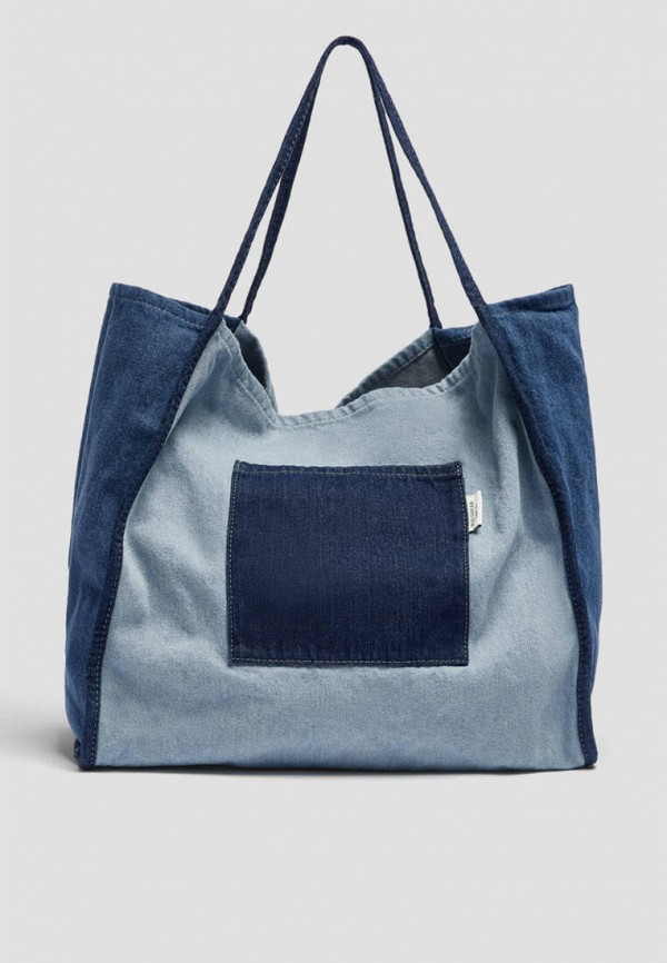 женская сумка-шоперы pull & bear, синяя