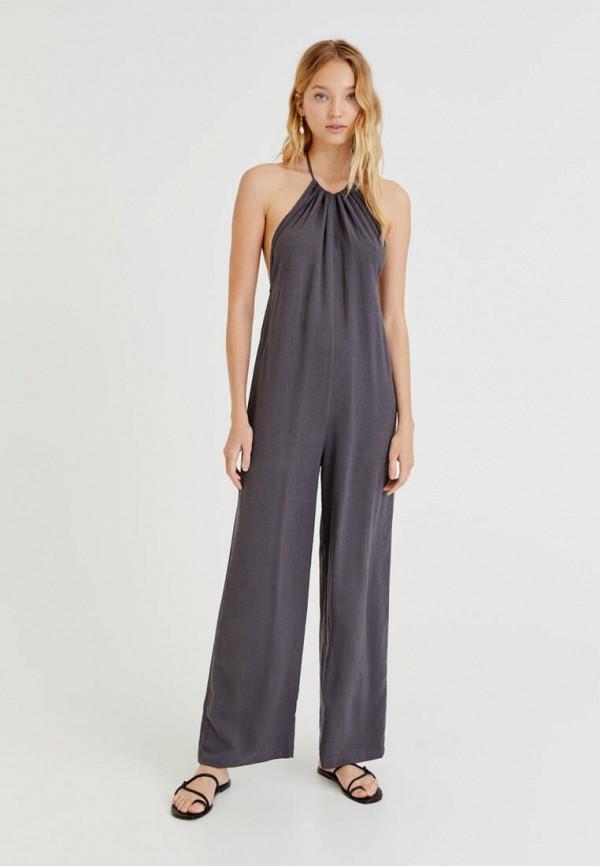 женский комбинезон с брюками pull & bear, серый