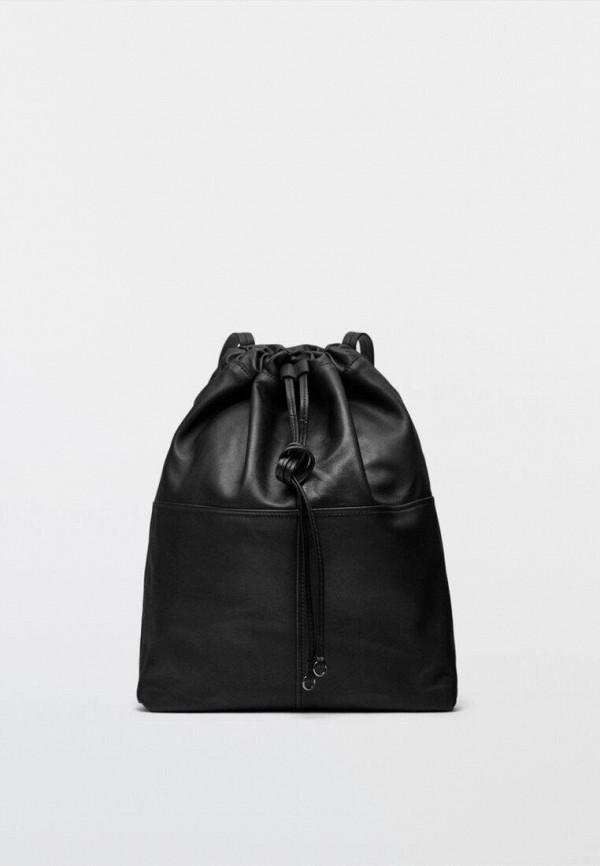 женский рюкзак massimo dutti, черный
