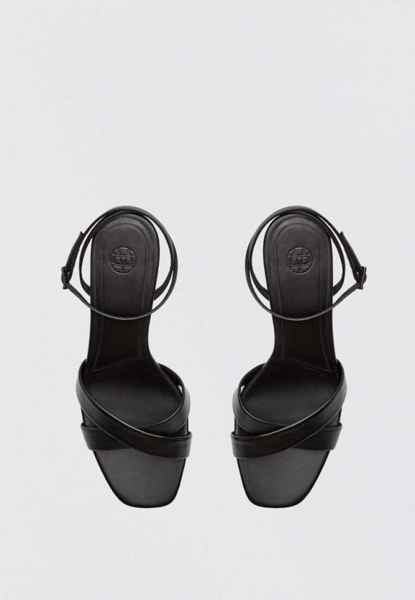 женские босоножки massimo dutti, черные