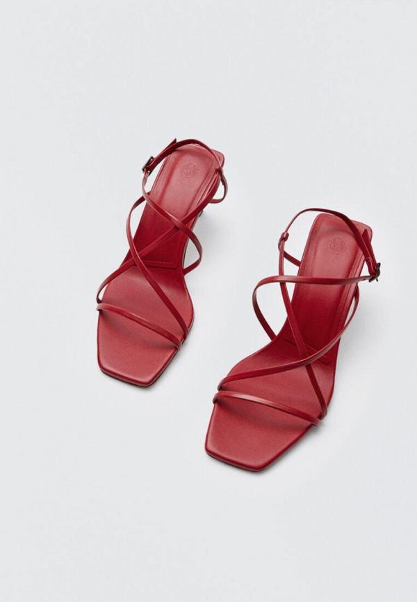 Босоножки Massimo Dutti красного цвета