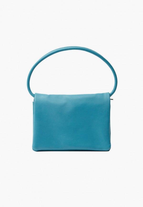 женская сумка с ручками stradivarius, голубая