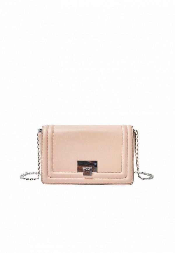 женская сумка через плечо stradivarius, розовая