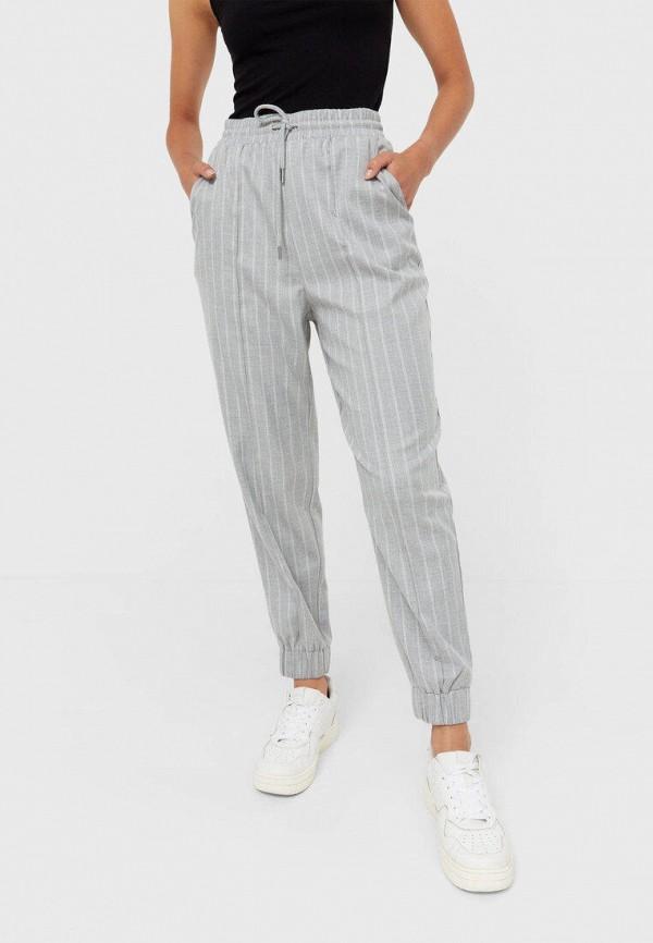 женские брюки джоггеры stradivarius, серые