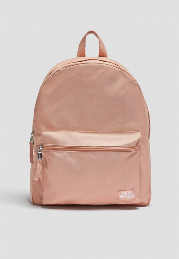 женский рюкзак pull & bear, розовый