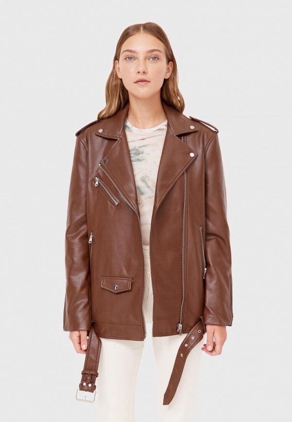 Куртка кожаная Stradivarius IX001XW012ZZINS