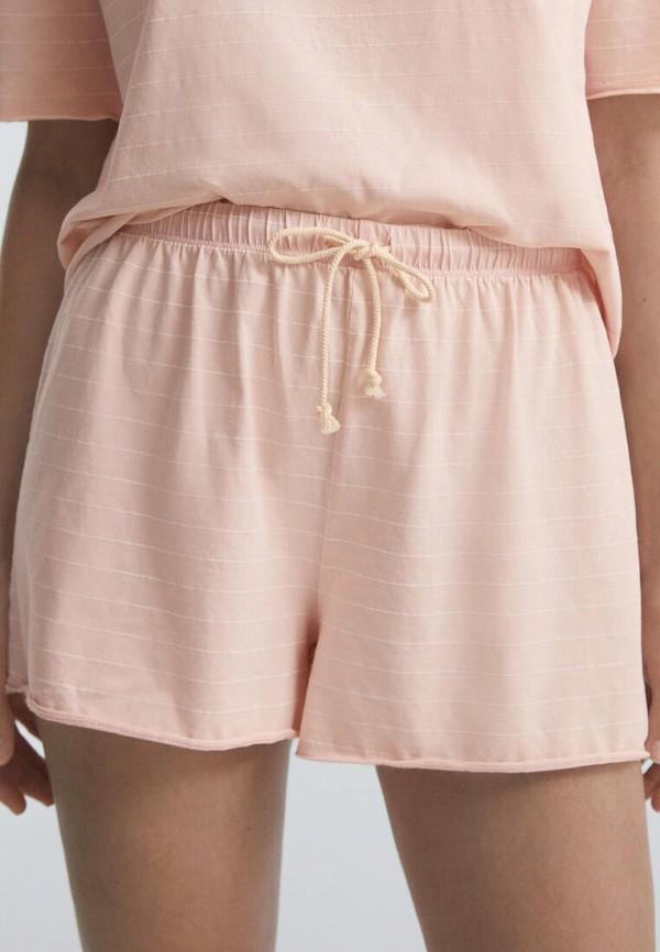 женские шорты oysho, розовые