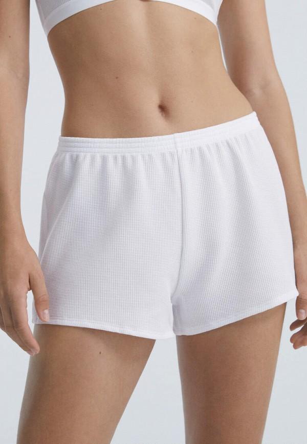 женские шорты oysho, белые