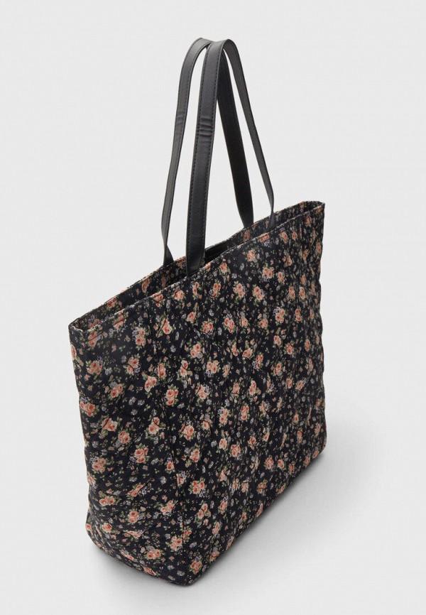 женская сумка-шоперы stradivarius, черная