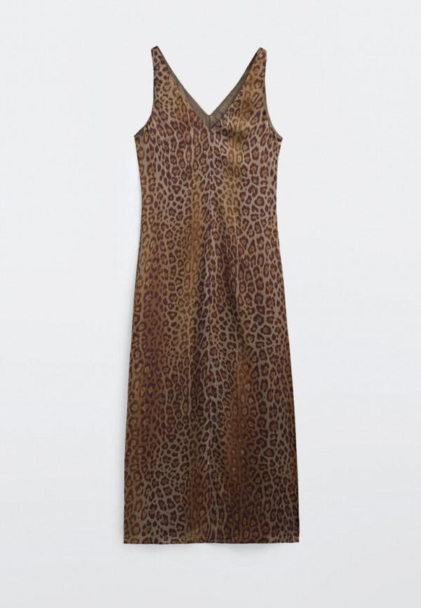 Платье Massimo Dutti коричневого цвета