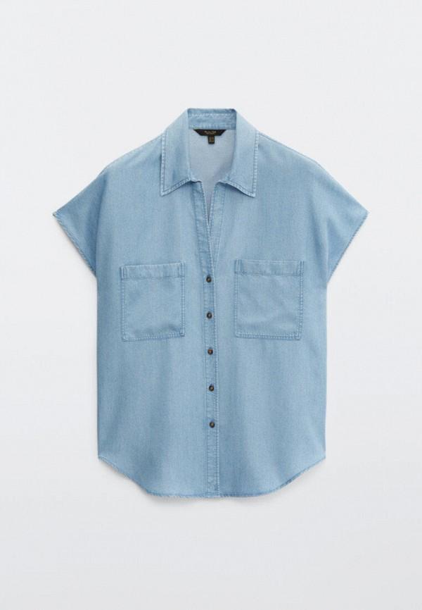 Блуза Massimo Dutti голубого цвета