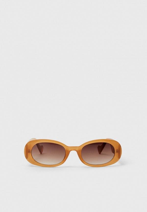 женские солнцезащитные очки stradivarius, бежевые