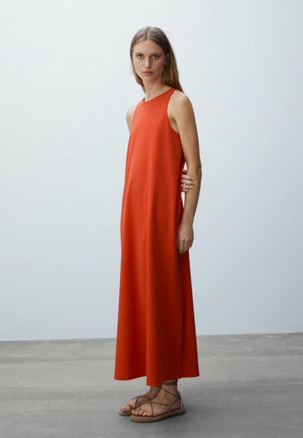 Платье Massimo Dutti красного цвета