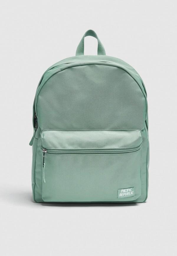 женский рюкзак pull & bear, бирюзовый