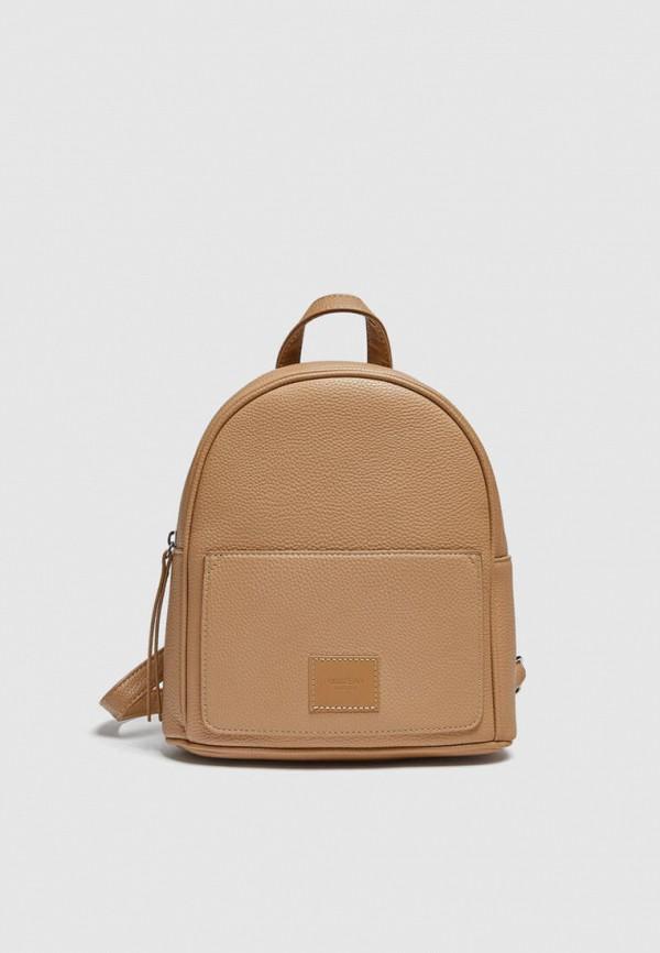 женский рюкзак pull & bear, коричневый