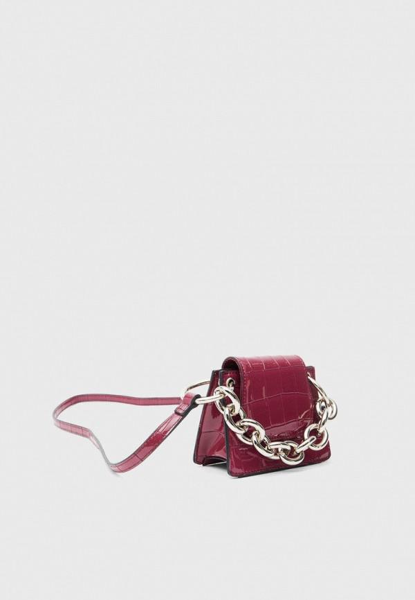женская сумка через плечо stradivarius, фиолетовая