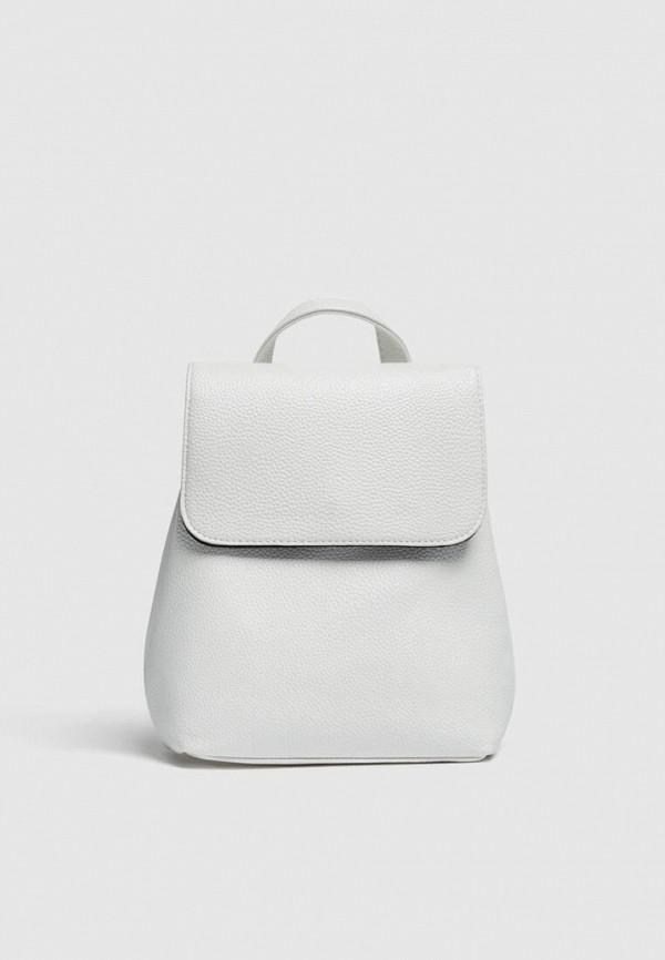 женский рюкзак pull & bear, белый