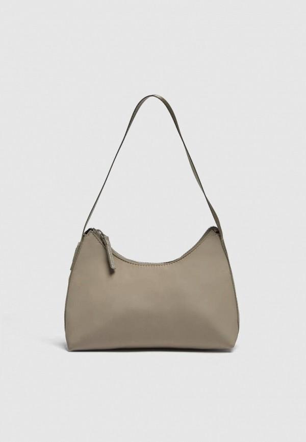 женская сумка с ручками pull & bear, бежевая