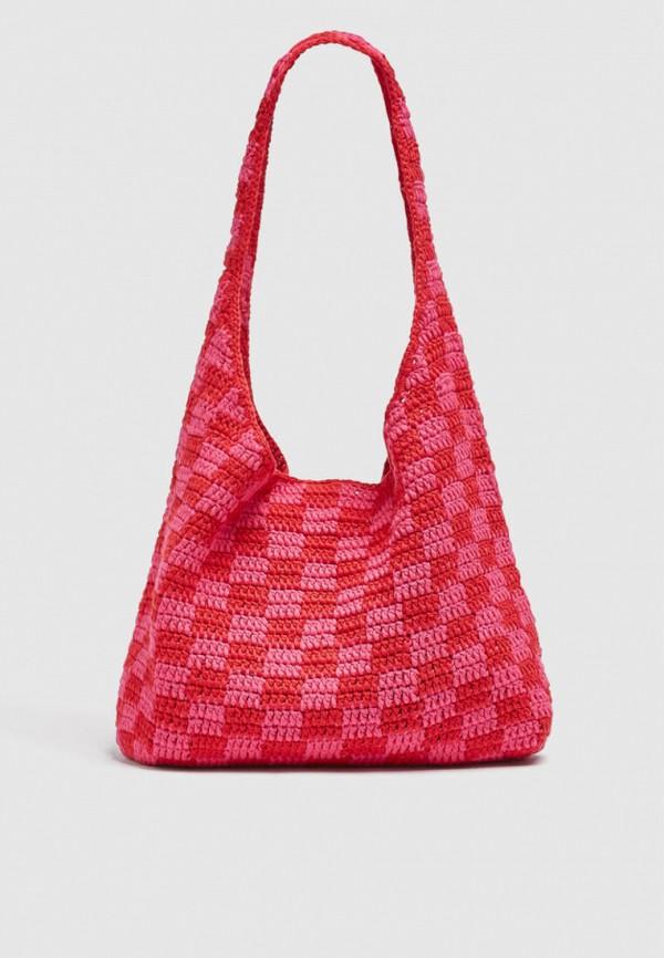 женская сумка-шоперы pull & bear, красная