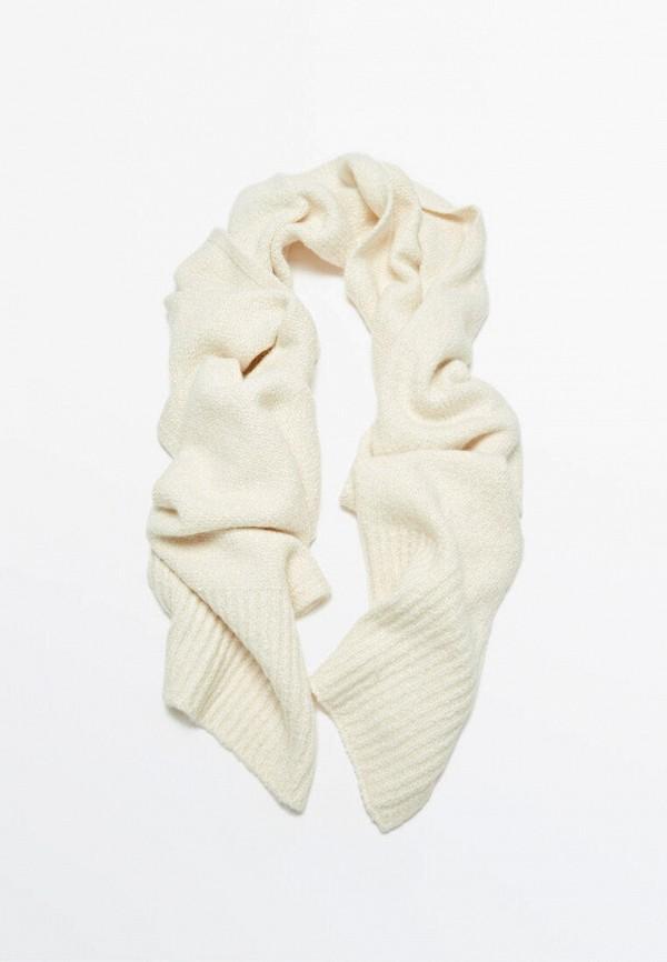 женский шарф massimo dutti, бежевый