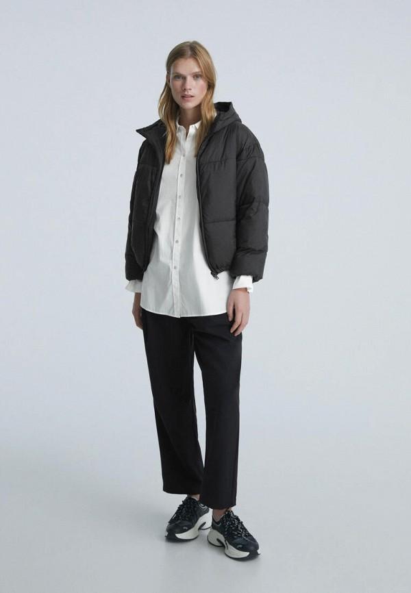 женская утепленные куртка oysho, черная
