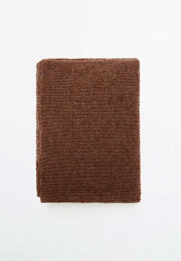 женский палантин massimo dutti, коричневый