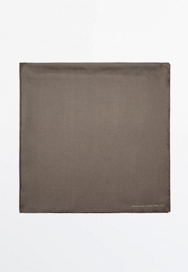 женский платок massimo dutti, коричневый