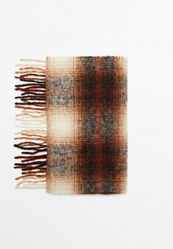 женский шарф massimo dutti, коричневый
