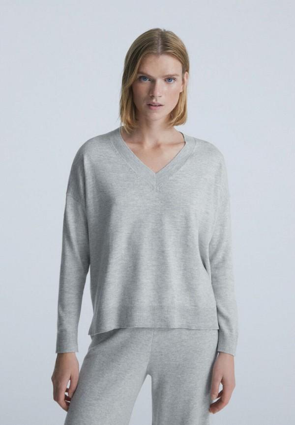 женский пуловер oysho, серый