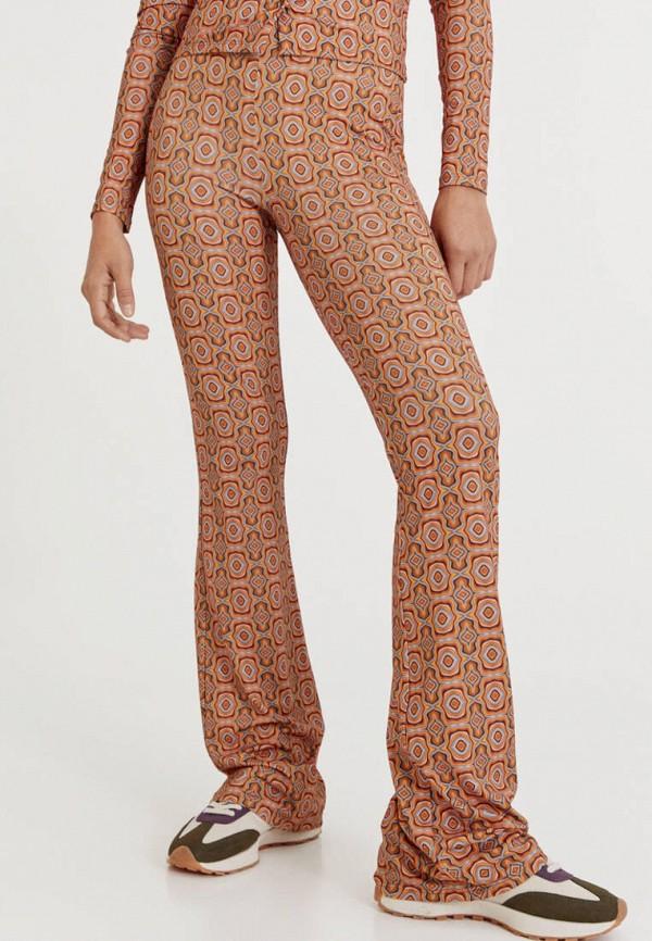 женские спортивные брюки pull & bear, коричневые