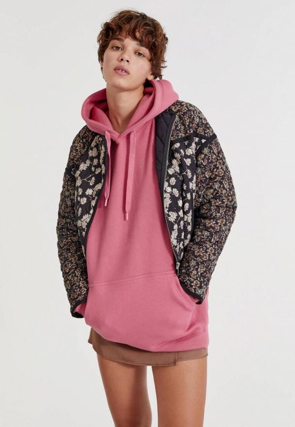женская утепленные куртка pull & bear, разноцветная
