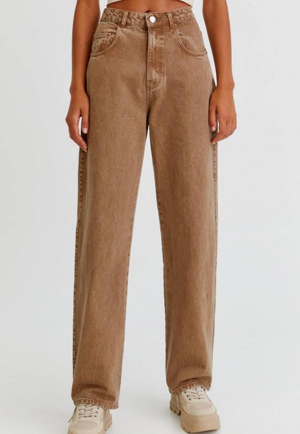 женские повседневные брюки pull & bear, коричневые