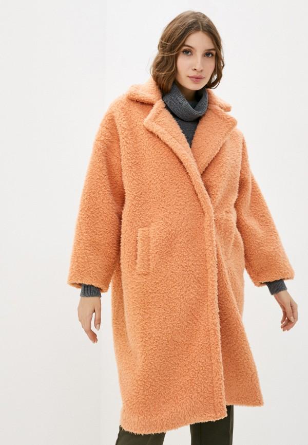 женская шуба izabella, оранжевая