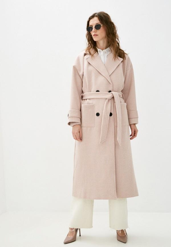 женское пальто izabella, розовое